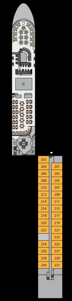 AROSA Flora Deck 2: Deck 2