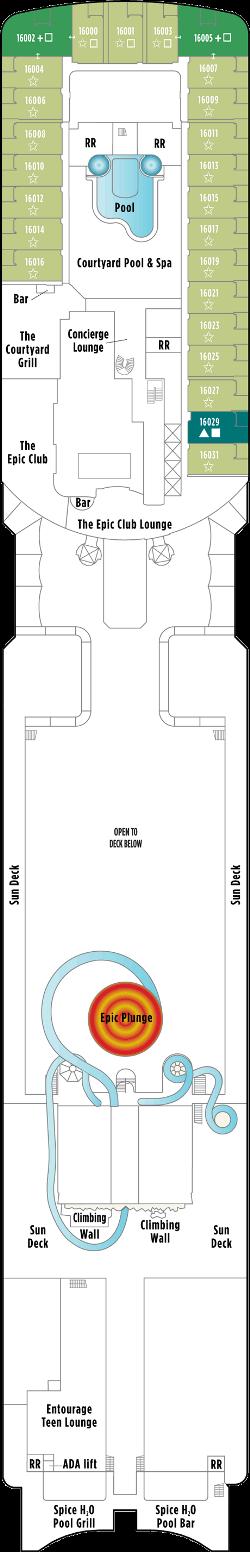 Norwegian Epic Deck 16: Deck 16