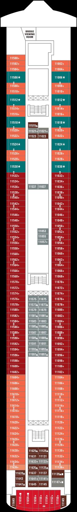 Norwegian Gem Deck 11: Deck 11