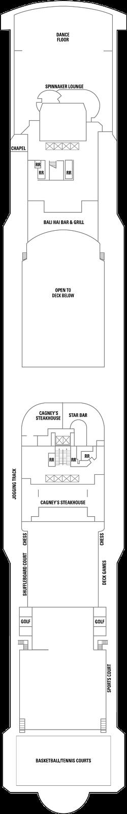 Norwegian Gem Deck 13: Deck 13