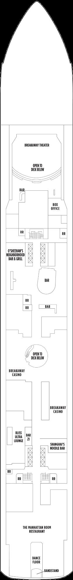 Norwegian Getaway Deck 7: Deck 7