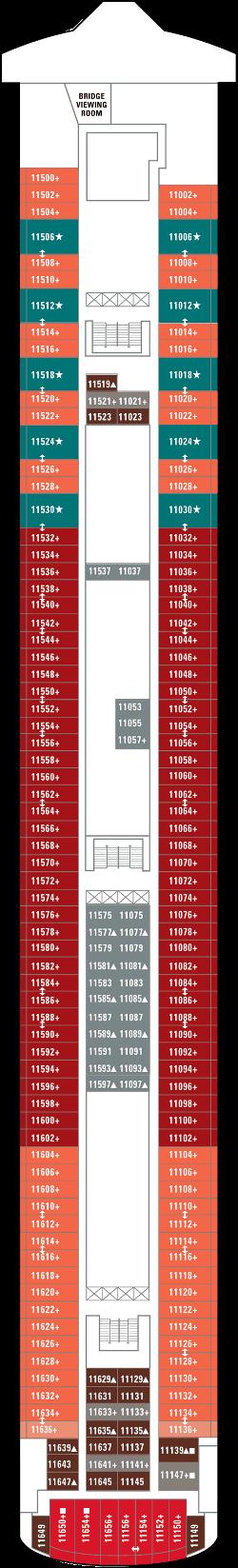 Norwegian Pearl Deck 11: Deck 11