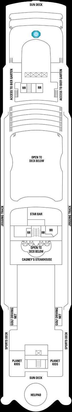 Norwegian Star Deck 13: Deck 13