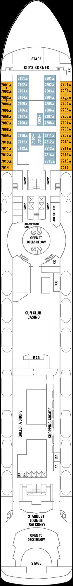 Norwegian Sun Deck 7: Deck 7