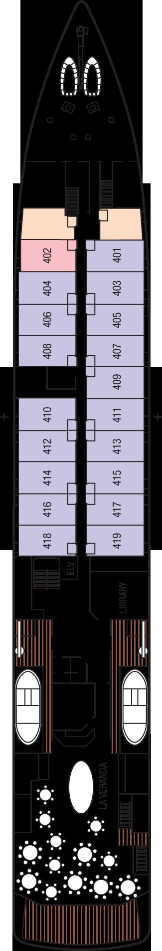 m/v Tere Moana Deck 4: Deck 4