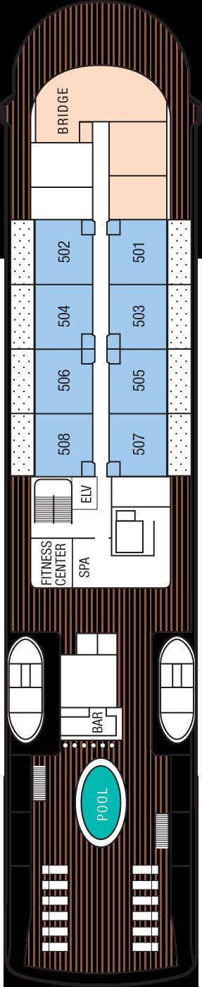 m/v Tere Moana Deck 5: Deck 5