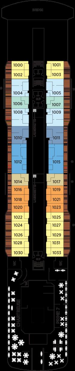 Seven Seas Explorer Deck 10: Deck 10