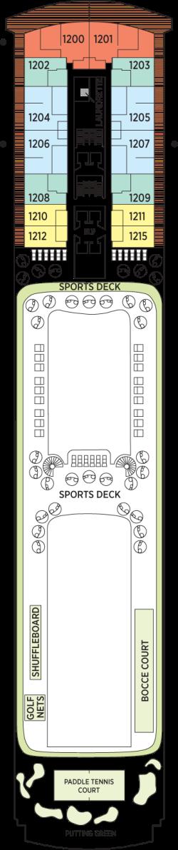 Seven Seas Explorer Deck 12: Deck 12