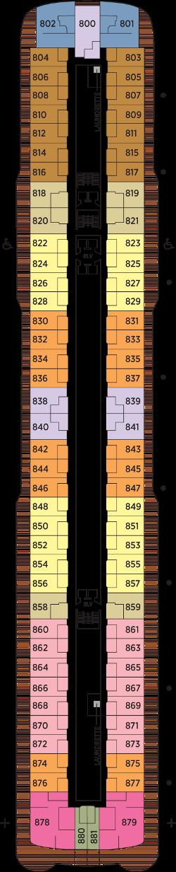Seven Seas Explorer Deck 8: Deck 8