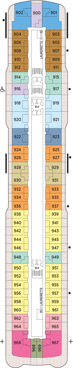 Seven Seas Explorer Deck 9: Deck 9