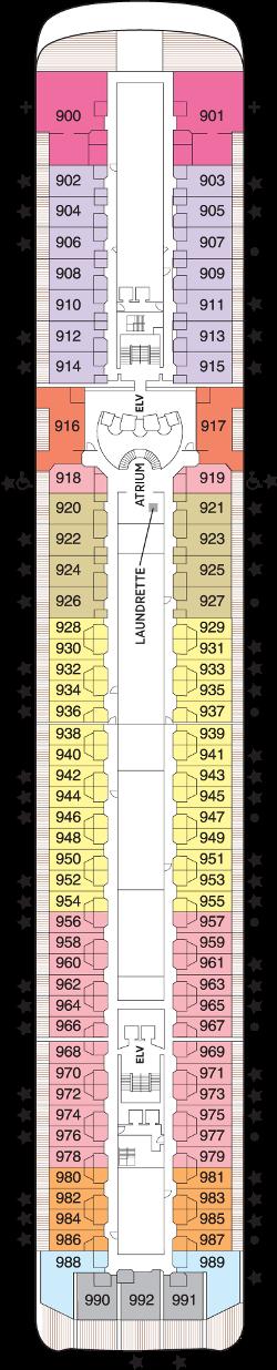 Seven Seas Mariner Deck 9: Deck 9