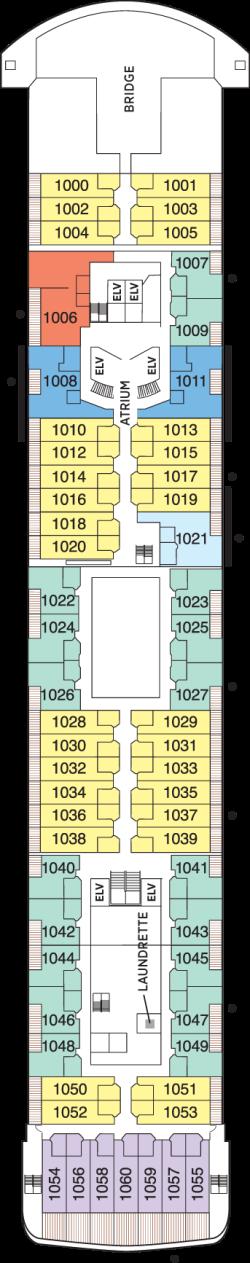 Seven Seas Voyager Deck 10: Deck 10