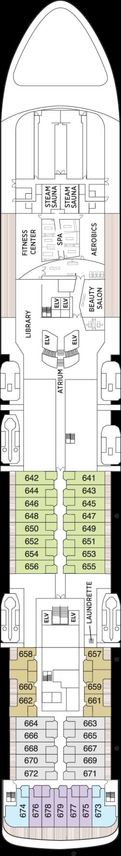 Seven Seas Voyager Deck 6: Deck 6
