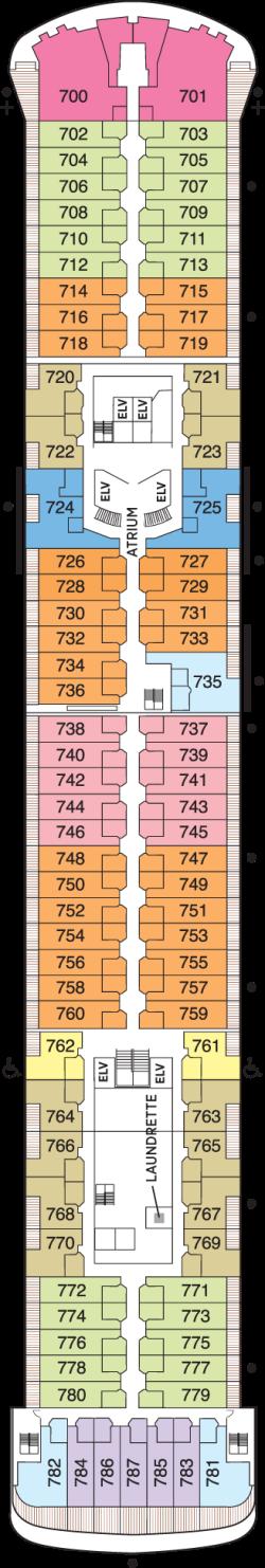Seven Seas Voyager Deck 7: Deck 7