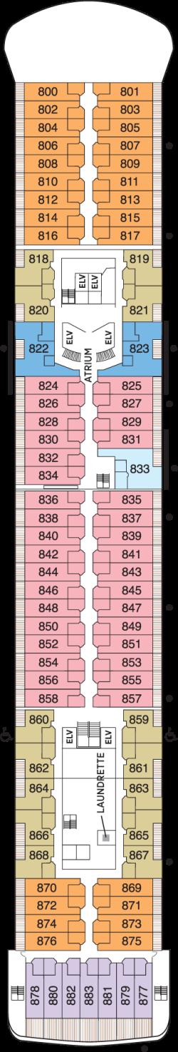Seven Seas Voyager Deck 8: Deck 8