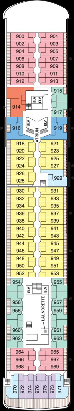 Seven Seas Voyager Deck 9: Deck 9