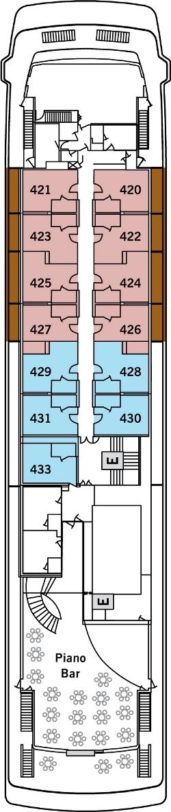 Silver Galapagos Deck 4: Deck 4