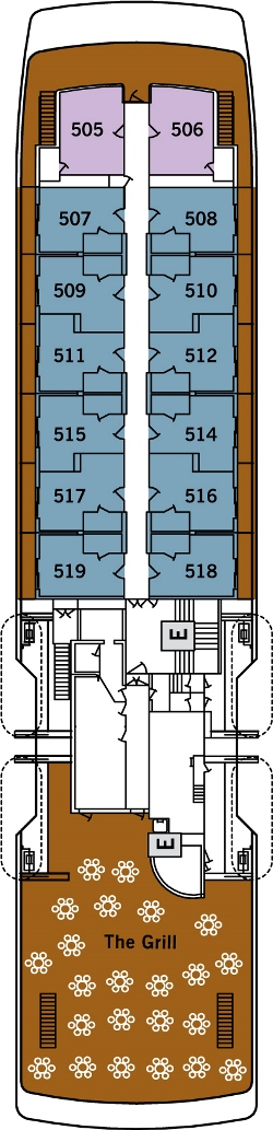 Silver Galapagos Deck 5: Deck 5