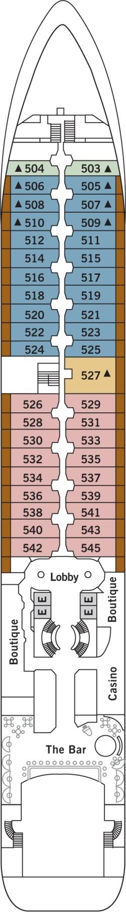 Silver Wind Deck 5: Deck 5