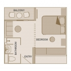 (CA) Balcony Suite